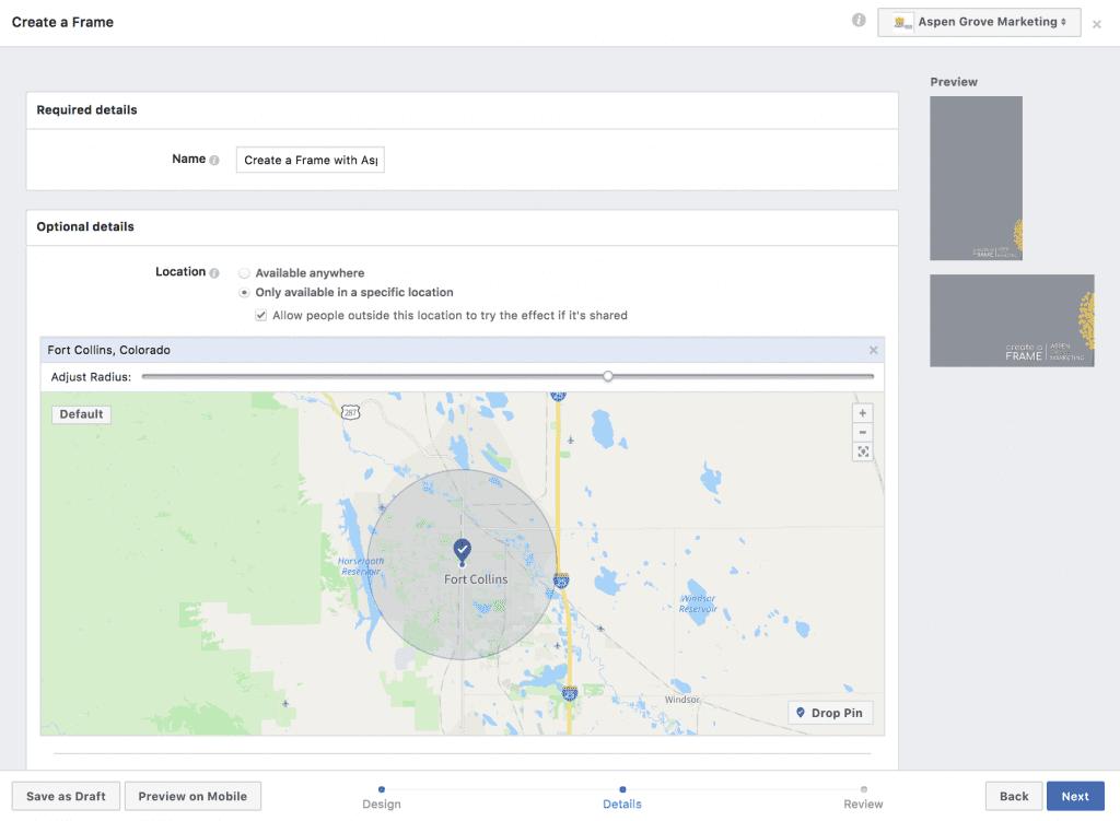 Create a Facebook Event Frame
